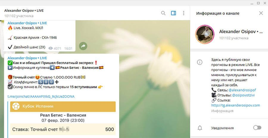 Телеграм канал Александра Осипова(Alexander Osipov)