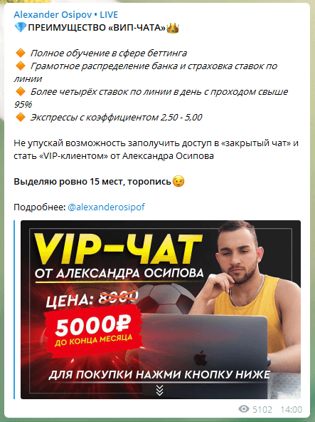 Преимущества Вип чата Александра Осипова(Alexander Osipov)
