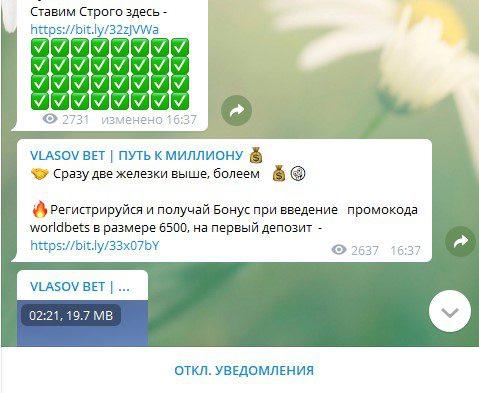 Статистика телеграм канала Vlasov Bet(Власов Бет)
