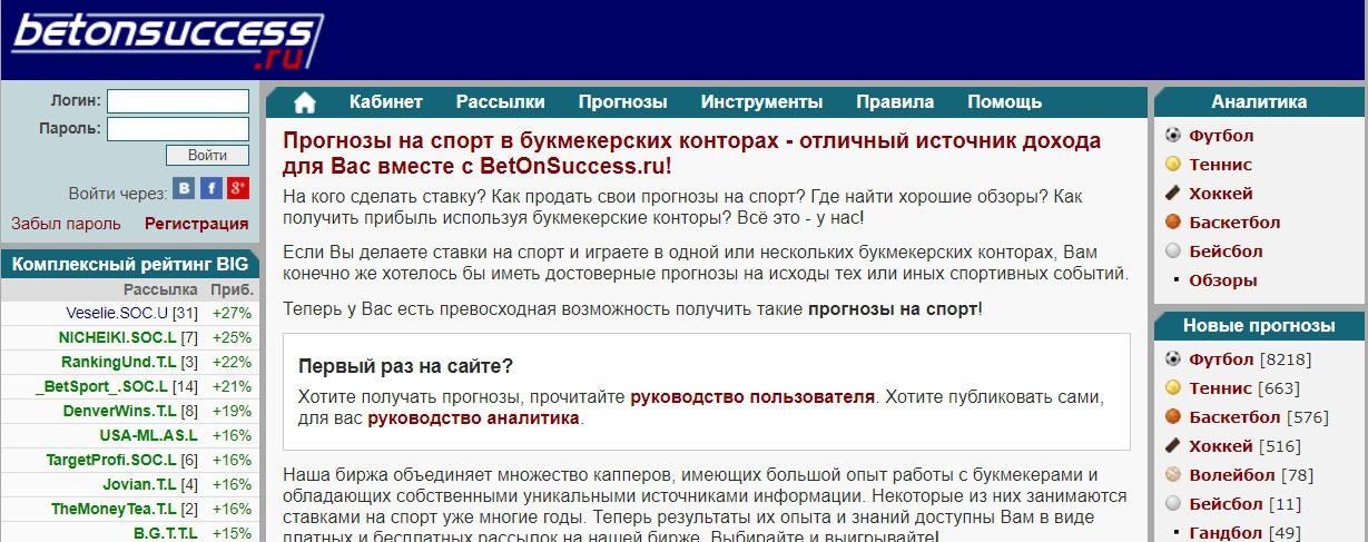 Главная страница сайта Betonsuccess(Бетонсаксесс)