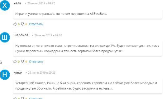 Отзывы о сканере Сурбет (Surebet)