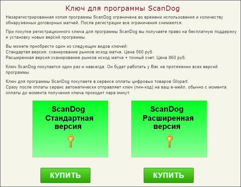 Ценовая политика каппера Skandog.ru(Скан Дог)