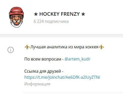 Каппер Hockey Frenzy в Телеграм