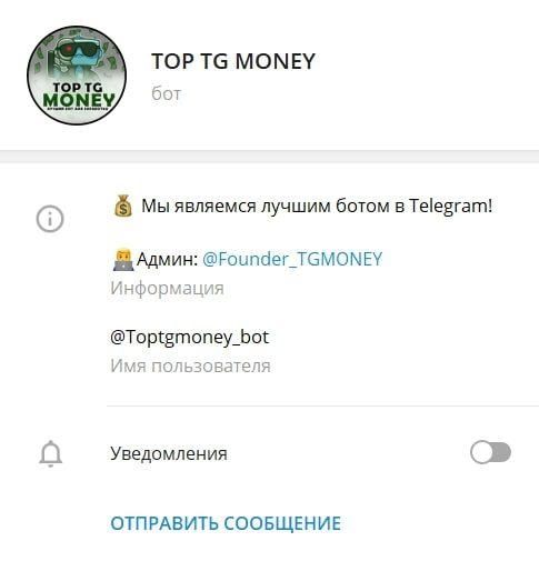 Top TG Money – телеграмм бот