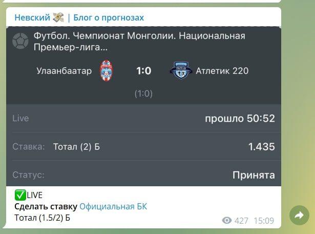 Невский | блог о прогнозах - ставки на спорт