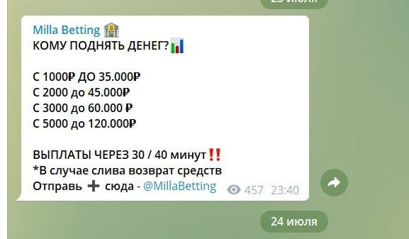 Стоимость услуг каппера Мила Васнецова