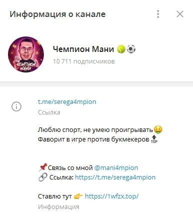 Телеграм Чемпион Мани