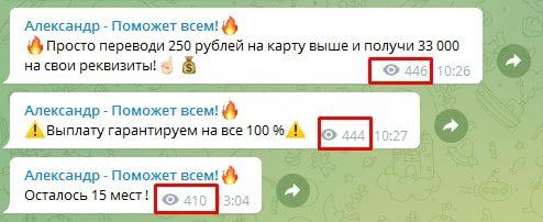 Просмотры Телеграмм Александр Буйниченко
