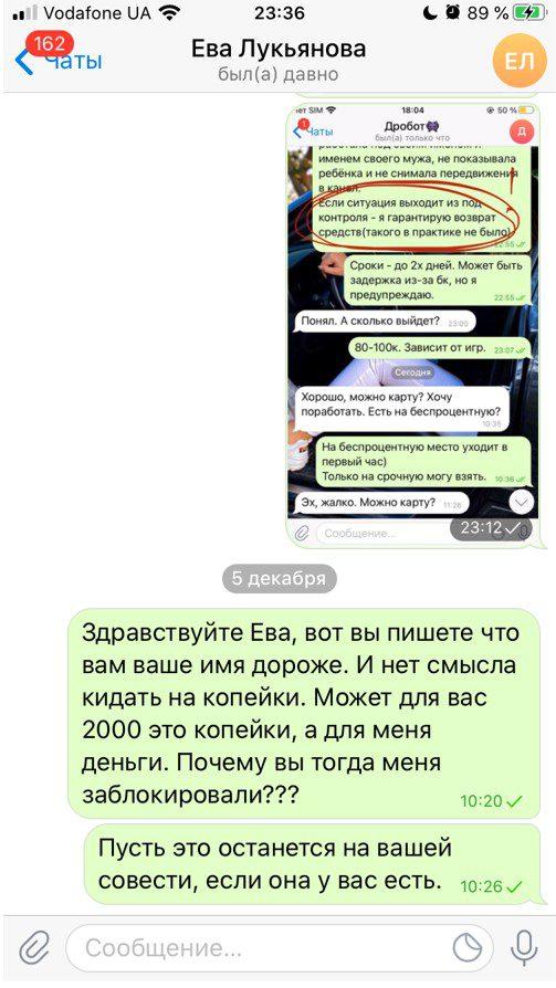 Ева Лукьянова Телеграмм