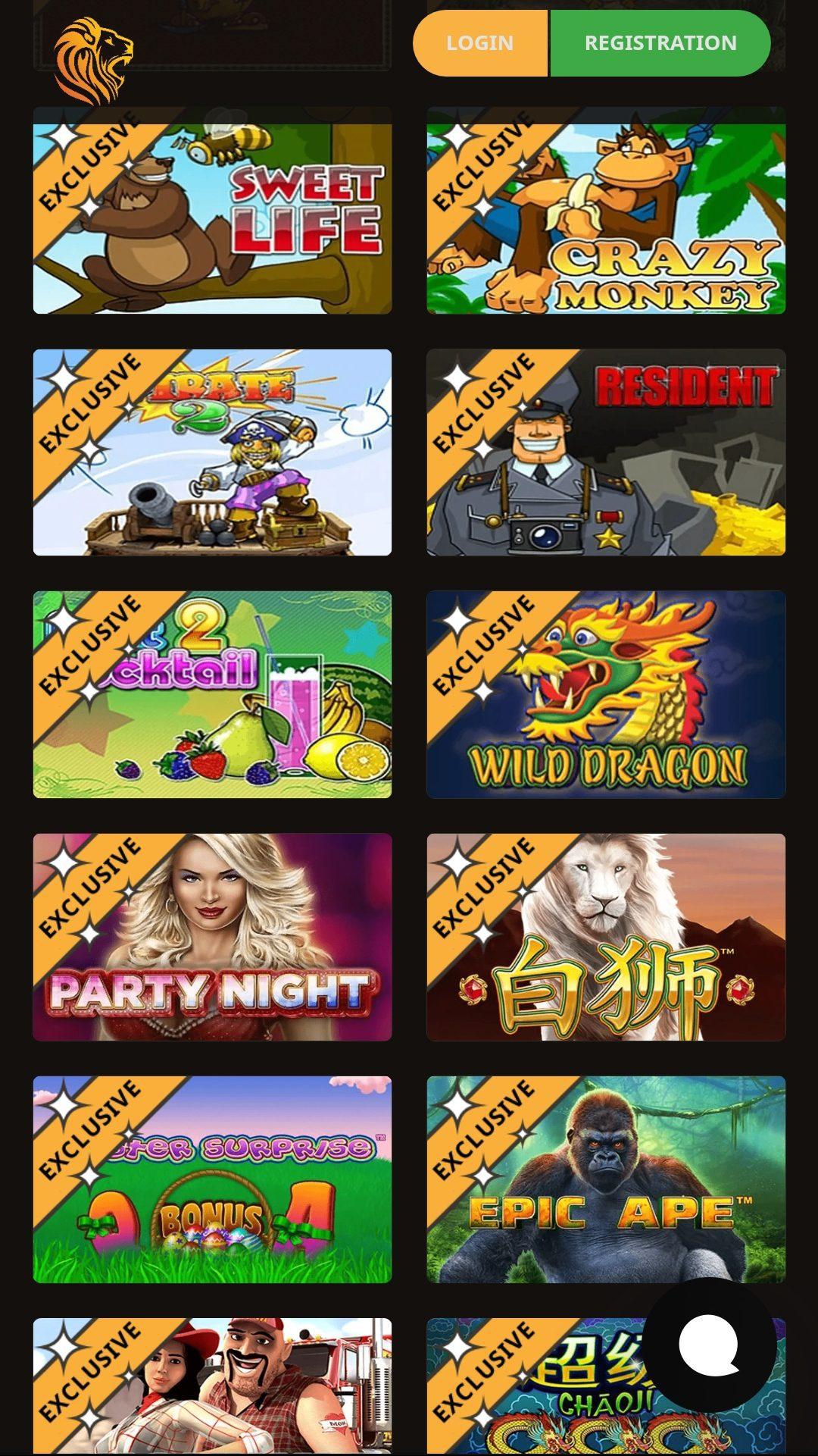 Онлайн-казино leoslots - слоты