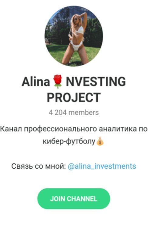 Alina Investing Project Телеграмм
